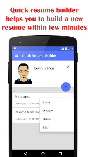 Quick Resume Builder