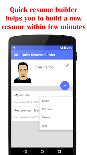 Quick Resume Builder Apps on Google Play