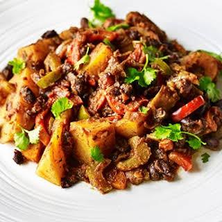 Jamaican Jerk Potato and Black Bean Curry.