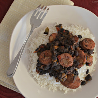 Black Beans and Rice with Sausage.