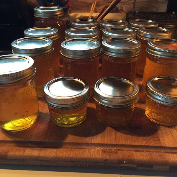 Ladle into jars leaving 1/4 inch head space, and put on lids as you...