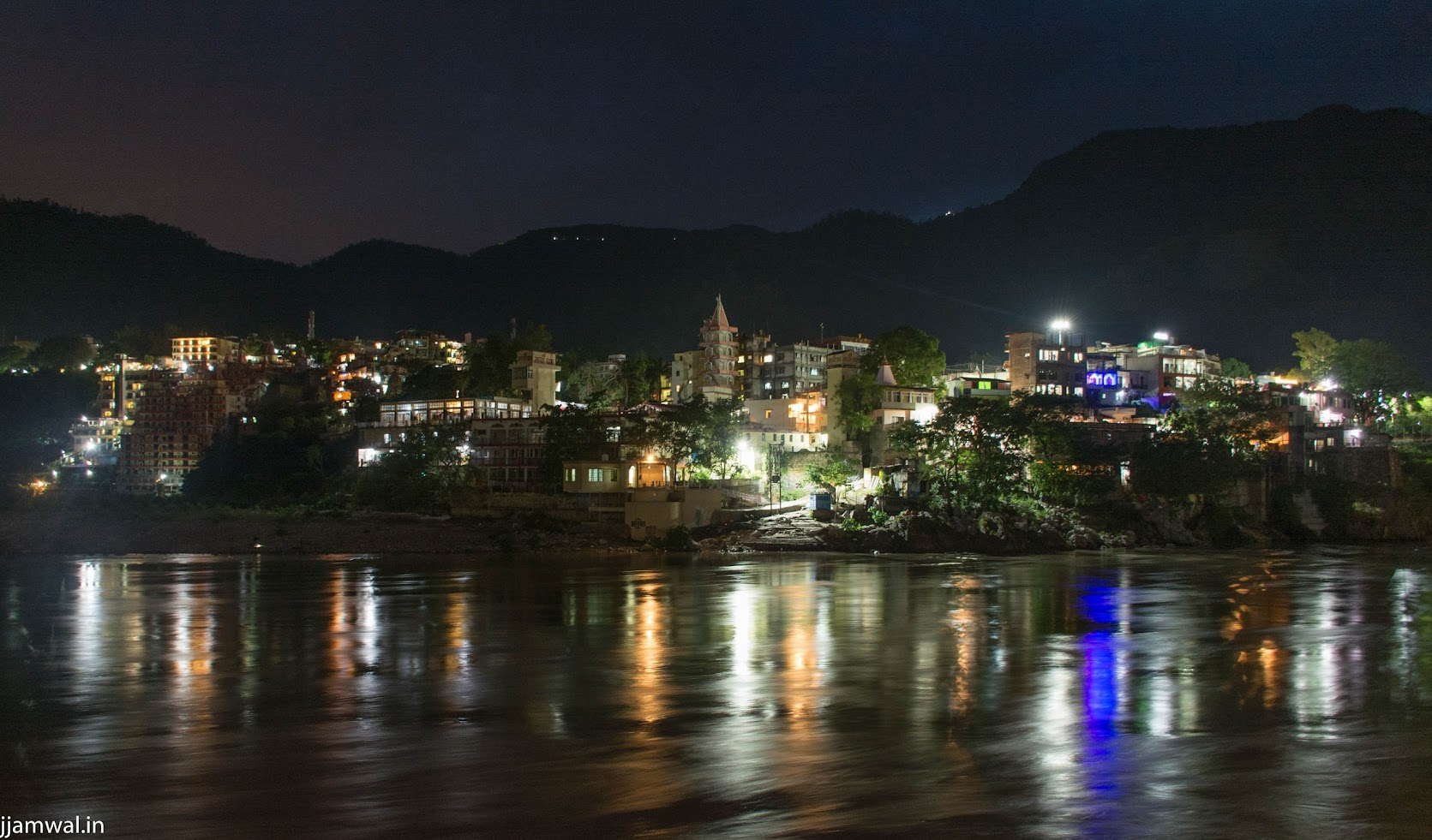 Rishikesh at night