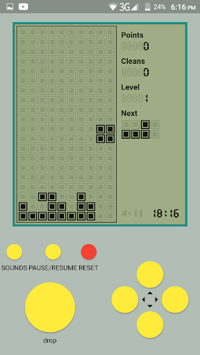 Old Classic Tetris - Brick Game android2mod screenshots 1