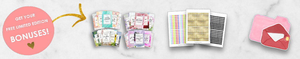 Limited edition bonuses with the Happy creative life planner 2017
