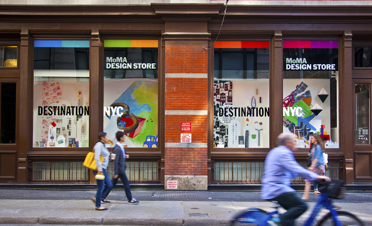 The streets of SoHo are more colorful thanks to the MoMA Design Store. Photo: Curbing the Catwalk.