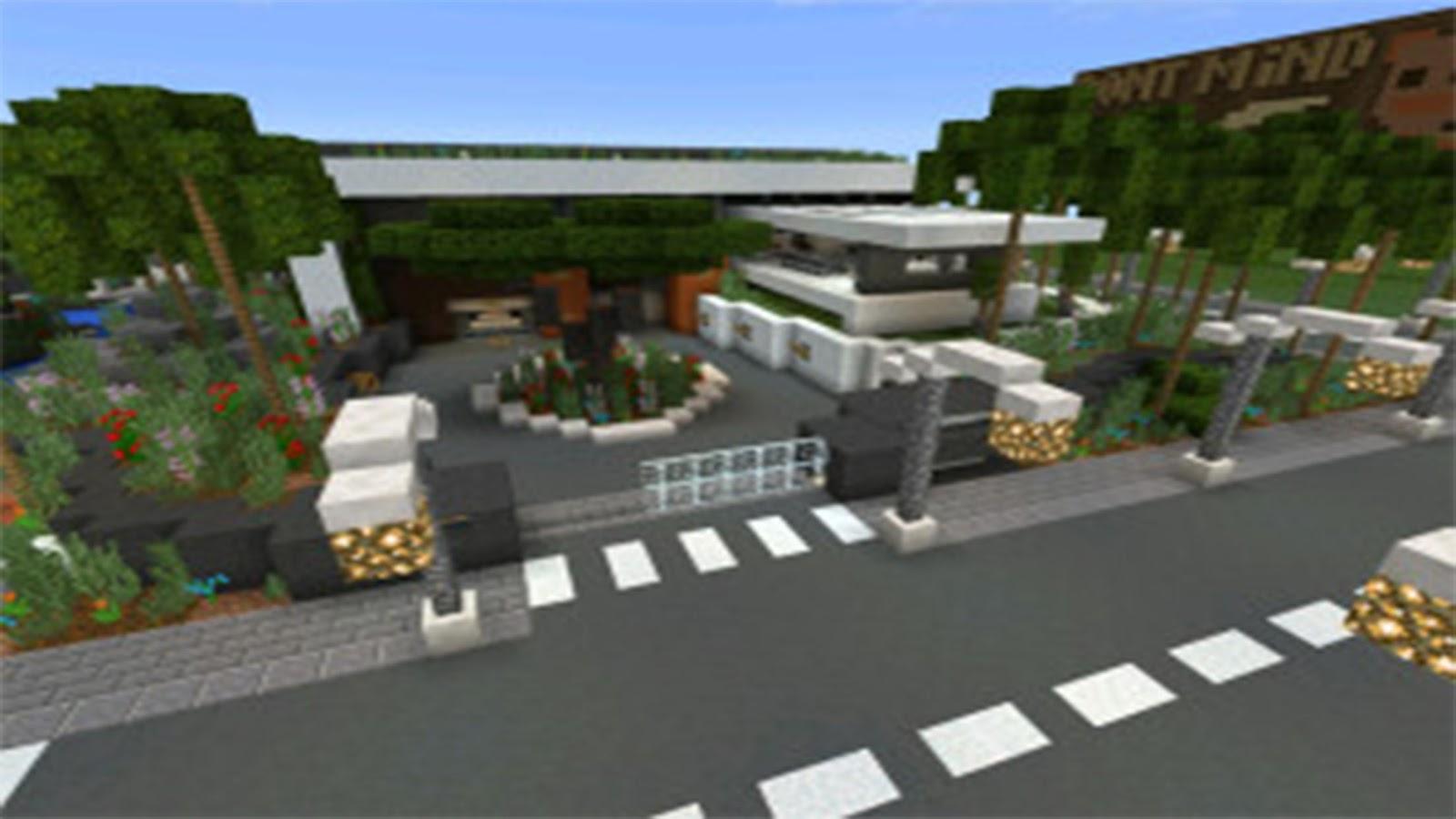 Modern village map for mcpe screenshot