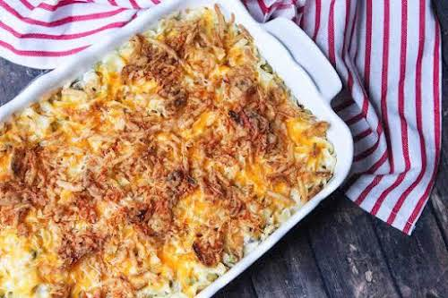 """Tuna Noodle Casserole With Cream Cheese (No Canned Soup)""""This homemade tuna casserole..."""