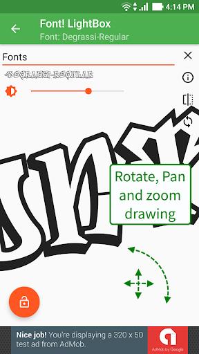 Font! Lightbox tracing app  Wallpaper 17