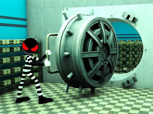 Stickman Bank Robbery Escape  screenshots 9
