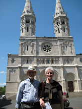 Photo: Us outside the new Chalon church.