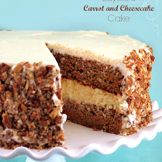 Gluten-Free Layered Carrot & Cheesecake Cake.