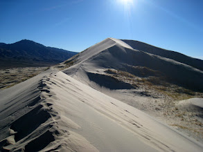 Photo: The ridge to the top of the dunes