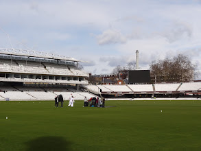 Photo: In the middle of a deserted Lord's.