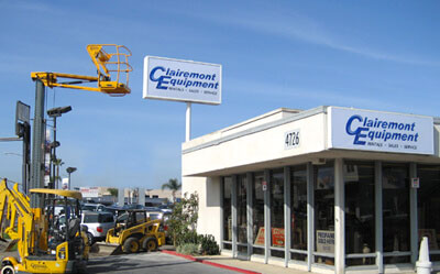 clairemont equipment rental near san diego
