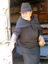Photo: This woman popped out of her hut on the old Inca path and offered to sell us genuine Inca artworks (?)