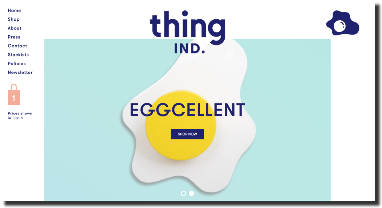 Thing Ind. Or Thing Industries is a design studio website screenshot