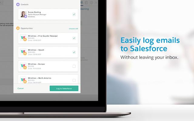 Salesforce Inbox chrome extension