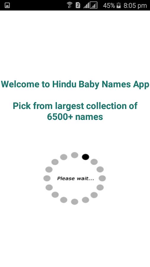 Hindu Baby Names And Meanings Screenshot