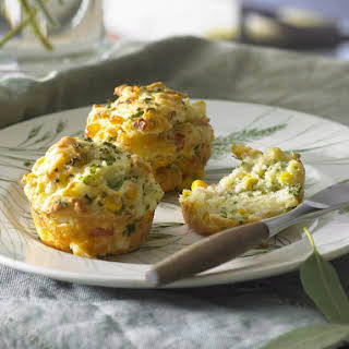 Spinach, Bacon and Corn Muffins.
