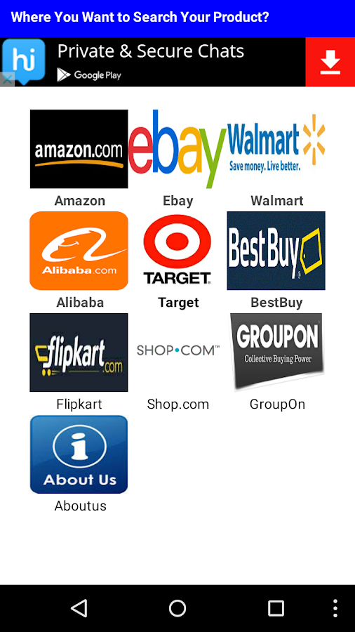 Shop-O-Search- screenshot