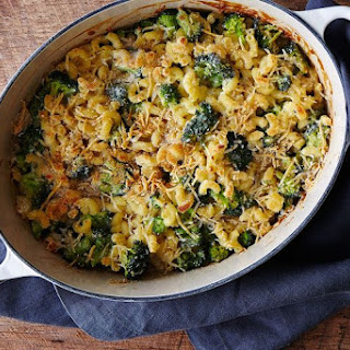 Macaroni-and-Cheese (and Broccoli) Casserole.