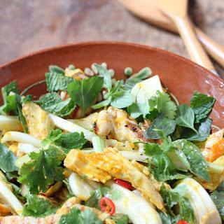 Saffron Chicken and Herb salad.