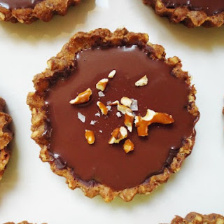 Milk Chocolate Tartlets With Pretzel Crust