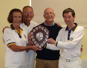 Photo: Ken's Killers- Tuesday Triples Champions. June Lay, Paul Crabtree, Michael Thompson and Captain Ken Walker. (Kath Boorman & Shirley Dudley absent)