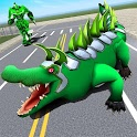 Real Robot Crocodile - Robot Transformation Game icon