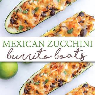 Mexican Zucchini Burrito Boats.