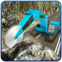 Off-road Crane Operator Rock Mining Machine Games icon