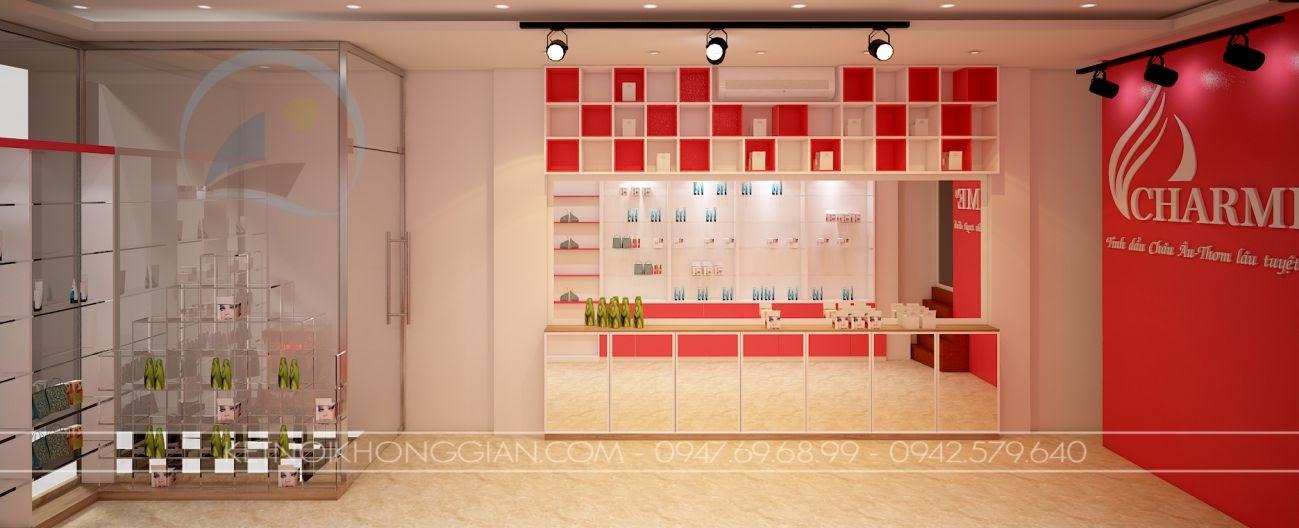 thiết kế shop nước hoa charme 4