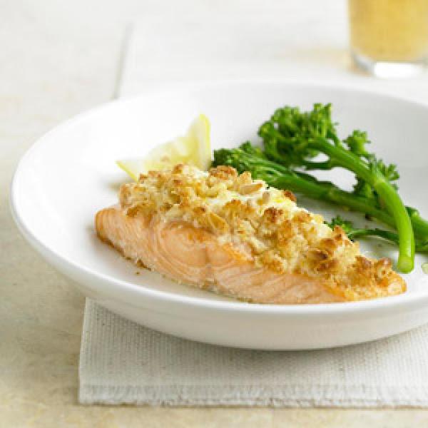 Herbed Cheese Stuffed Salmon Recipe