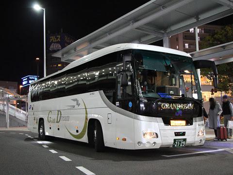西日本JRバス「グランドリーム大阪2号」 2129 広島駅新幹線口改札中_01