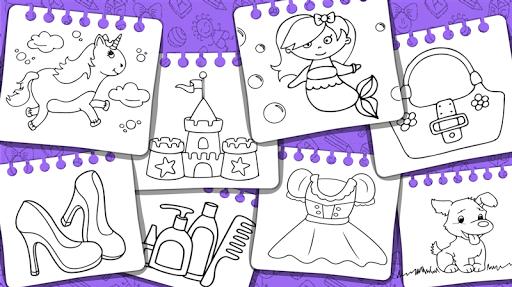 Princess Coloring Book & Games screenshots 24