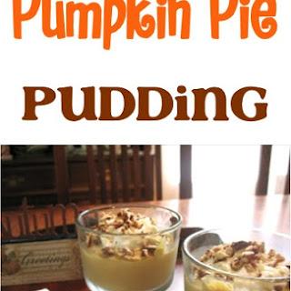 Pumpkin Pie Pudding with Maple Sugar Nuts & Cream