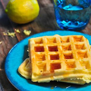 Lemon Buttermilk Waffles.