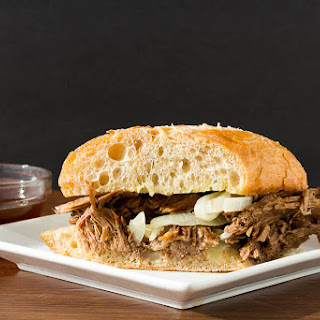 Slow Cooker Beef Dip with Au Jus.