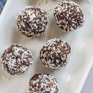 Dark Chocolate Coconut Energy Balls.