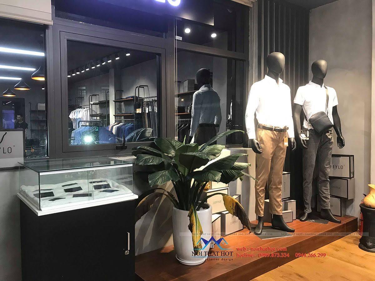 thiết kế thi công shop thời trang nam polido 14