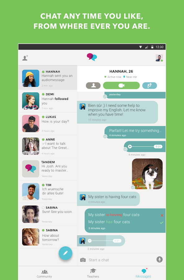Tandem: Language Exchange- screenshot