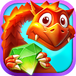 Gems and Dragons: Match 3 Icon