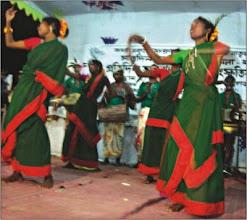 Photo: Adibashi artistes dance at the programme. Photo: Daily Star