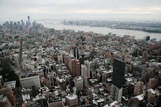 Photo: Näkymä Etelä-Manhattanin suuntaan, huomaa esimerkiksi One World Trade Center
