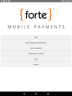Forte Mobile Payments- screenshot thumbnail
