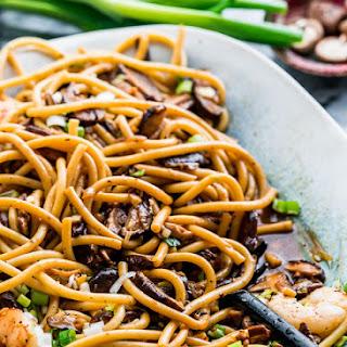 Shrimp Shiitake Noodles.