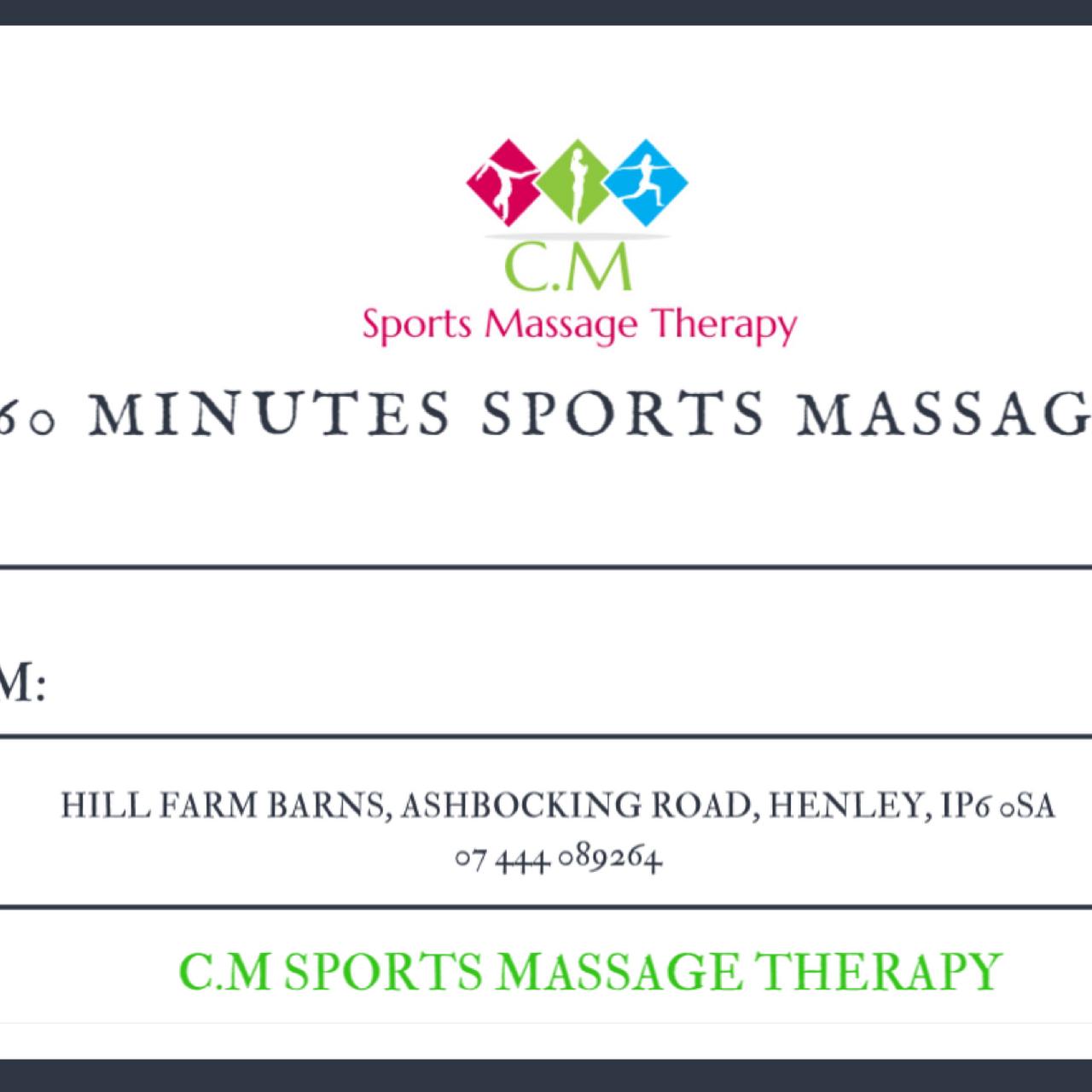 C M Sports Massage Therapy - Massage Therapist