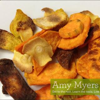 Crunchy Root Veggie Chips.