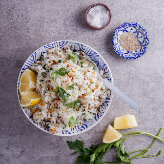Almond, Lemon and Parsley Pilaf Rice Recipe