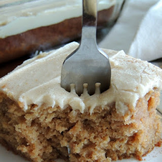 Cinnamon Applesauce Cake with Penuche Frosting